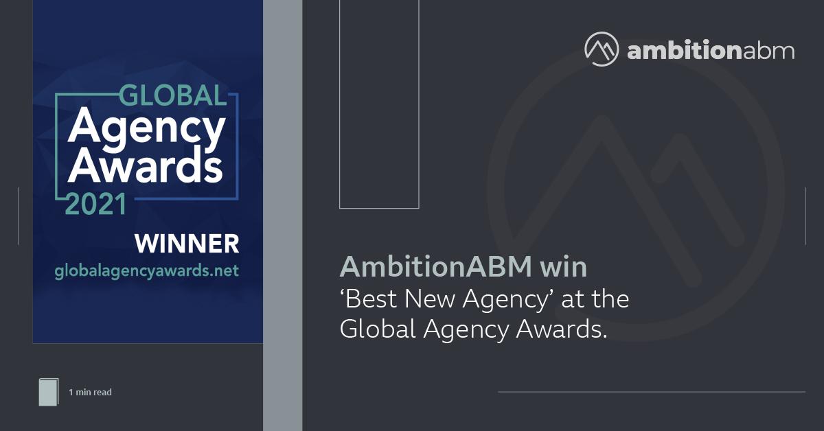 2021 Global Agency Awards Winner